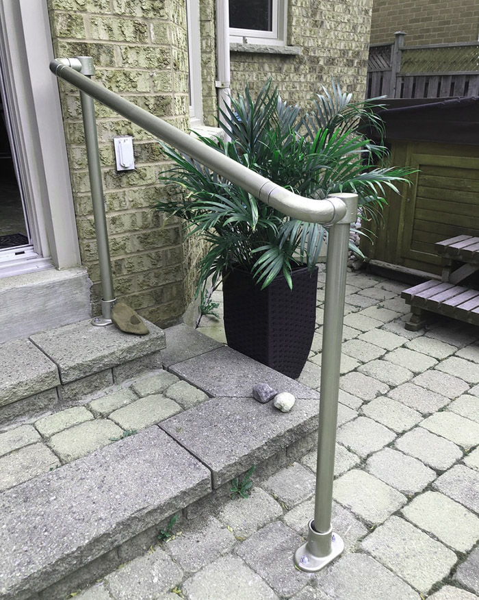 handrail kit for easy access into the house
