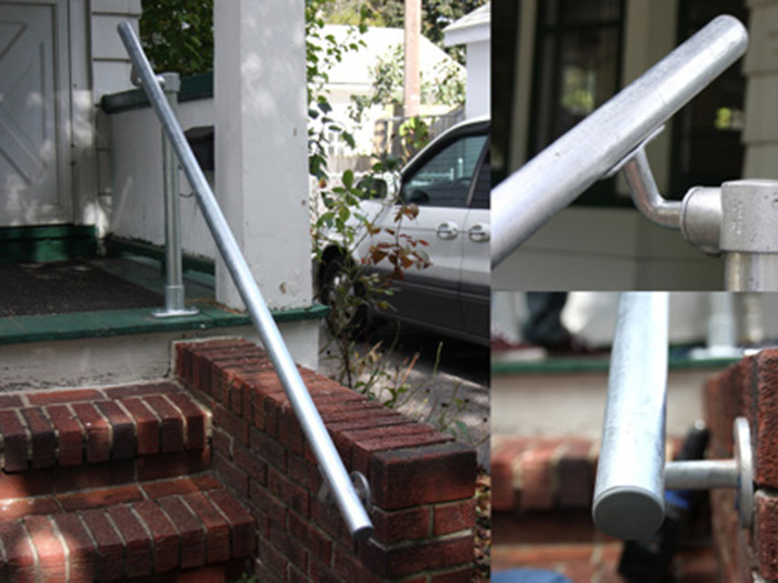 wall and floor railing kit for garden entrance
