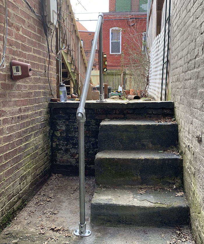 a very durable handrail system