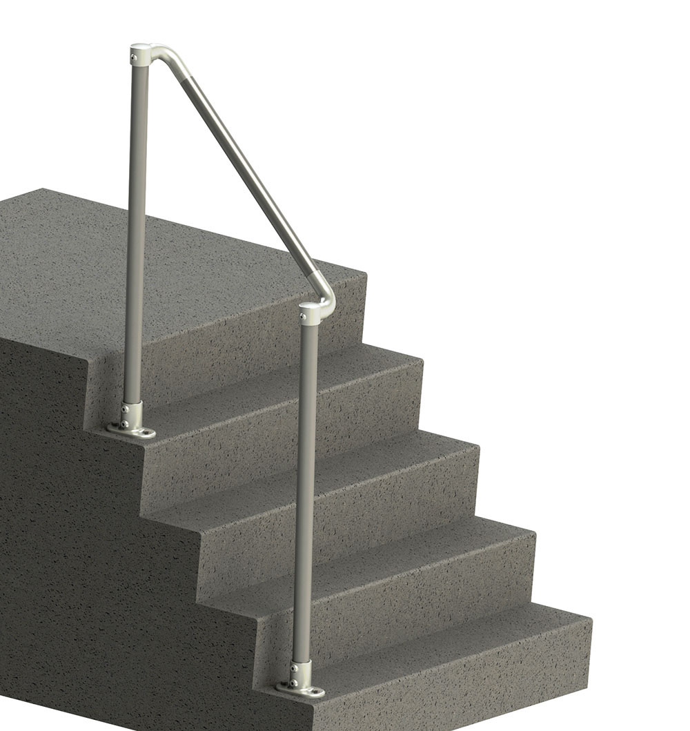 sturdy rounded end handrail for stairs