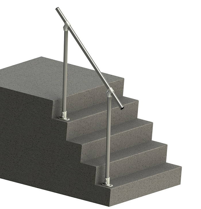 easy to install metal handrail
