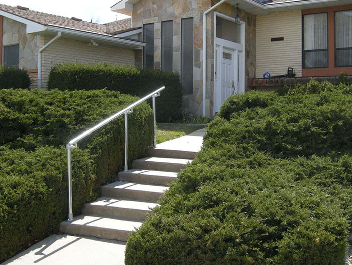 handrails outside the house