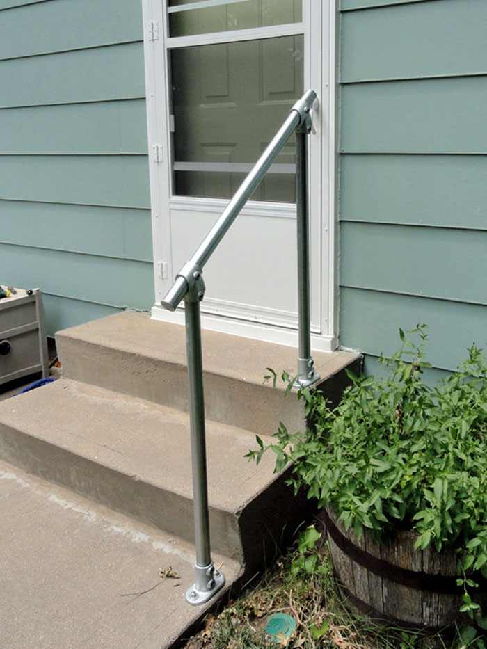 handrail kit for installation on stairs