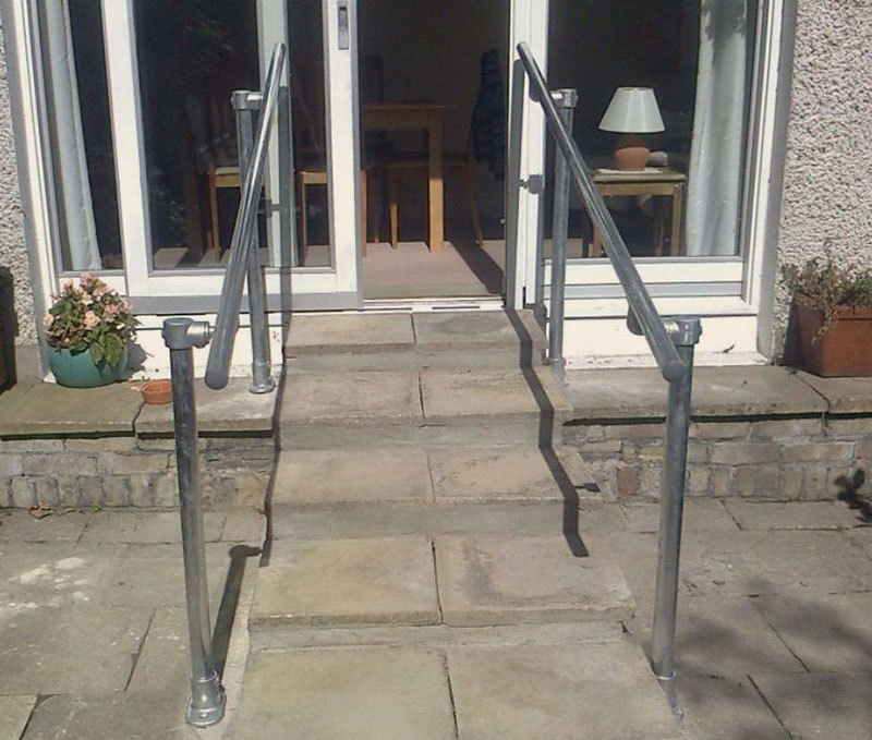 handrails outside the house