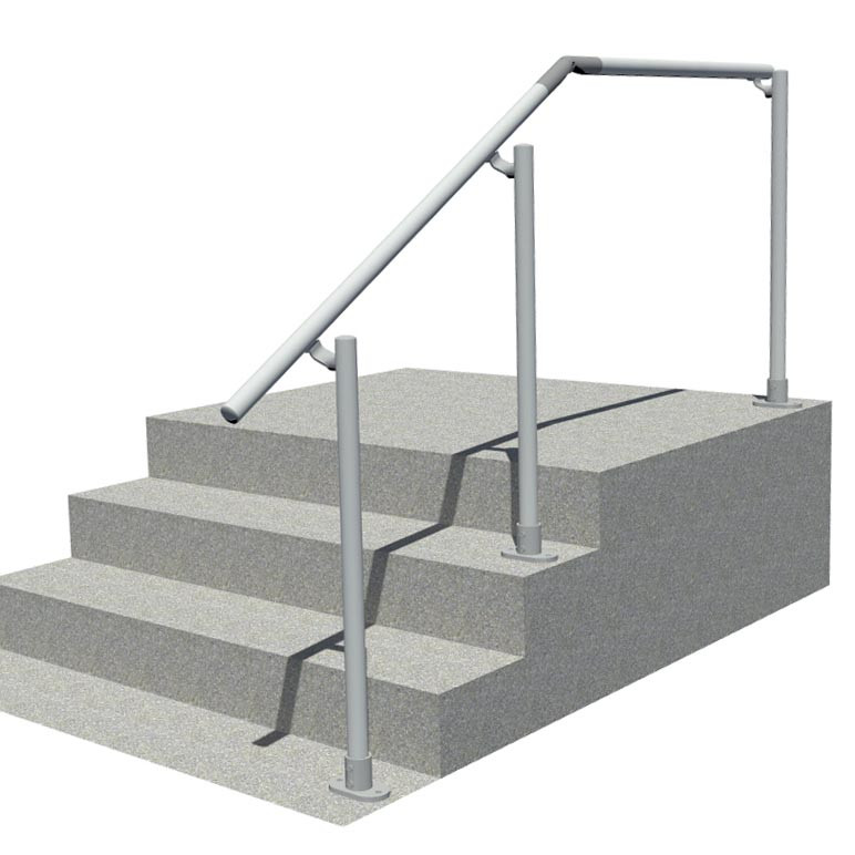 aluminium handrail for use on stairs and landing
