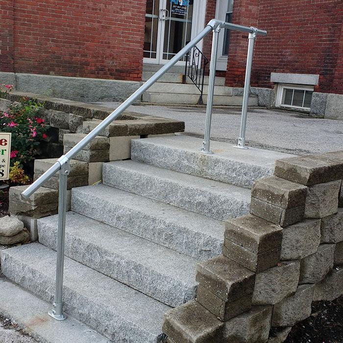 stairs to landing steel handrail kit