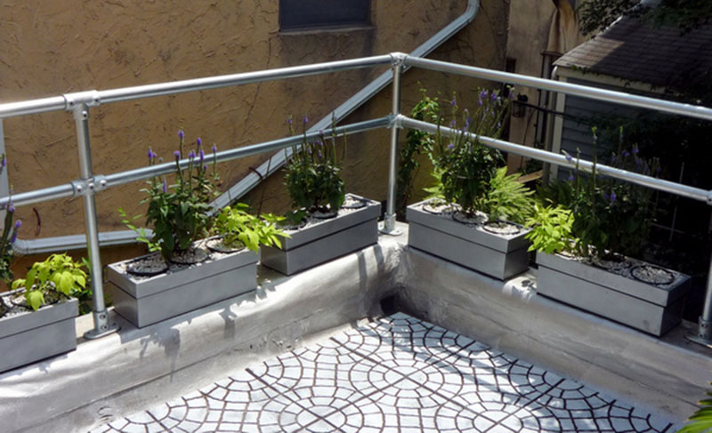 handrail for your roof terrace