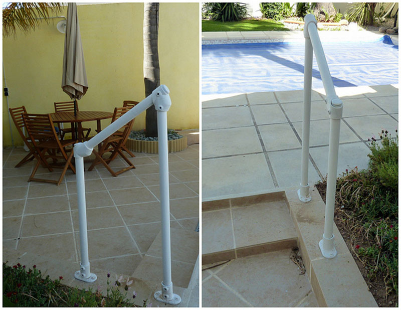 pool area stair handrail