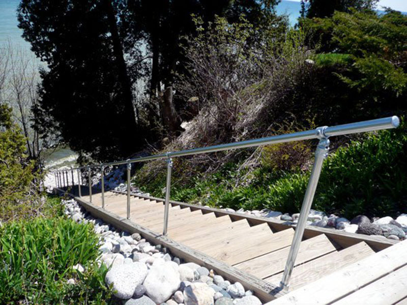 stair handrail for a beach view house