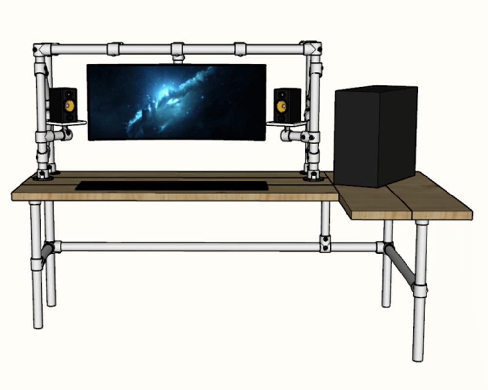 diy gaming desk frame plan