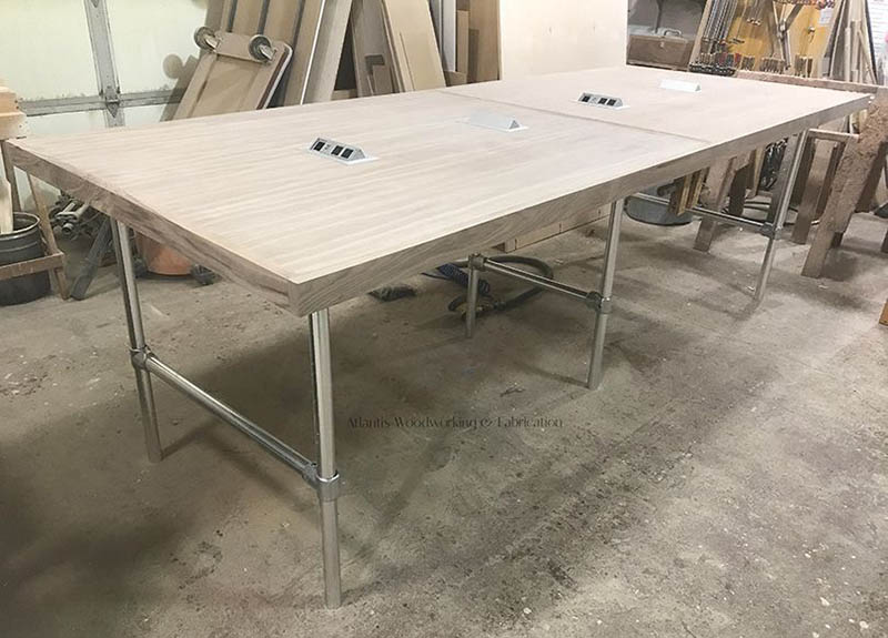 bespoke aluminium table frame