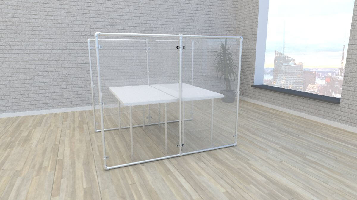 full height plexi divider frames