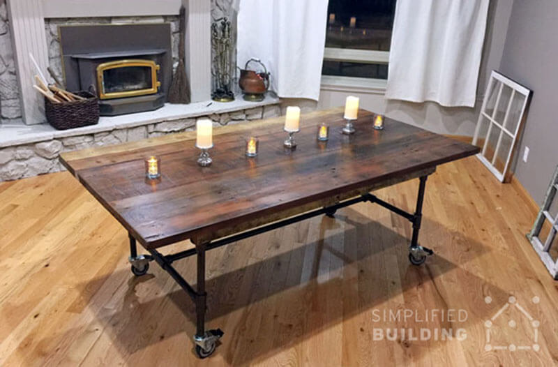 bespoke table frame for dining rooms