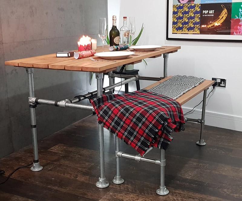 simple steel table frame