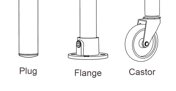 single table feet options